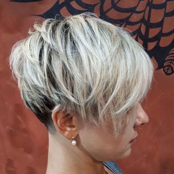 67. Messy Two-Tone Pixie with Nape Undercut