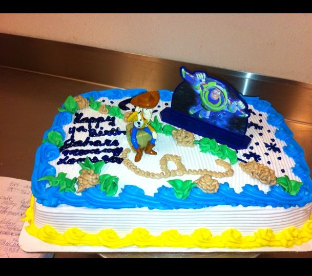 14 Sheet Cake With Woody And Buz Scene From Toy Story