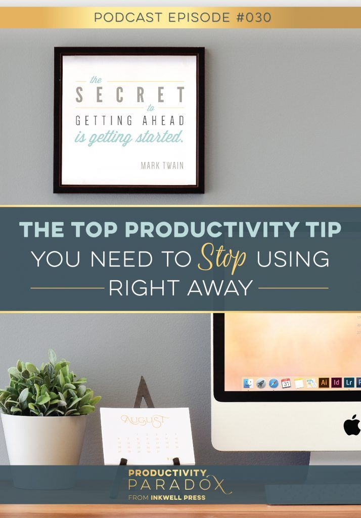 Learn how to move forward and complete goals by creating small wins for yourself first. Build momentum, don't eat the frog. Get actionable strategies from Productivity expert, Tonya Dalton on the Productivity Paradox podcast.
