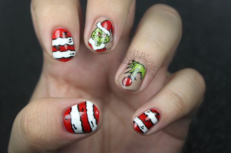 Finger Painted: The One With The Grinch Nails!