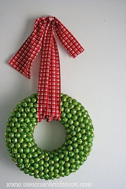 Fun wreath. #holidays #Christmas #diy