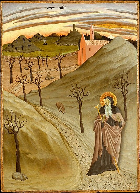 Saint Anthony the Abbot in the Wilderness  Osservanza Master (Italian, Siena, active second quarter 15th century)