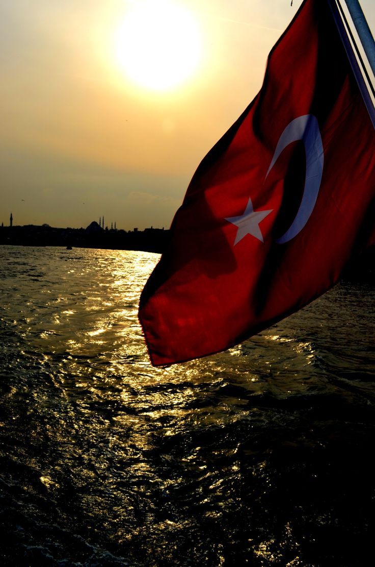 Turkish flag /istanbul,sunset..by İlknur AKPINAR on 500px