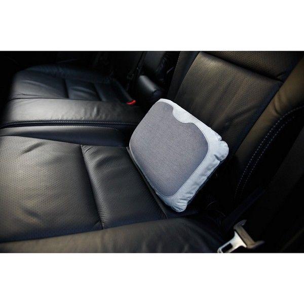 Un coussin ergonomique gonflable pour les lombaires. C'est idéal en voiture, en avion, en train. Pensez-y Il  prend peu de place car il est gonflable. www.cetaellecetalui;com