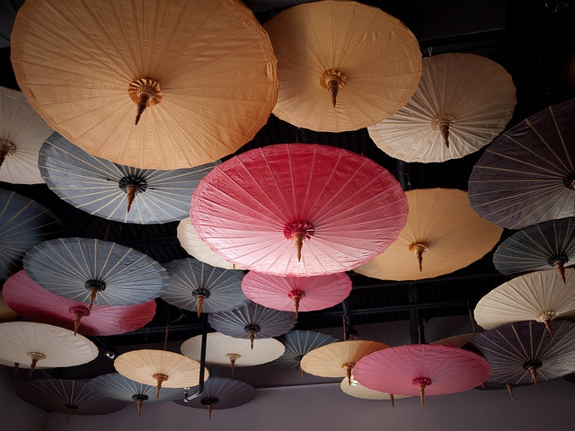 Paper umbrellas with varying depth