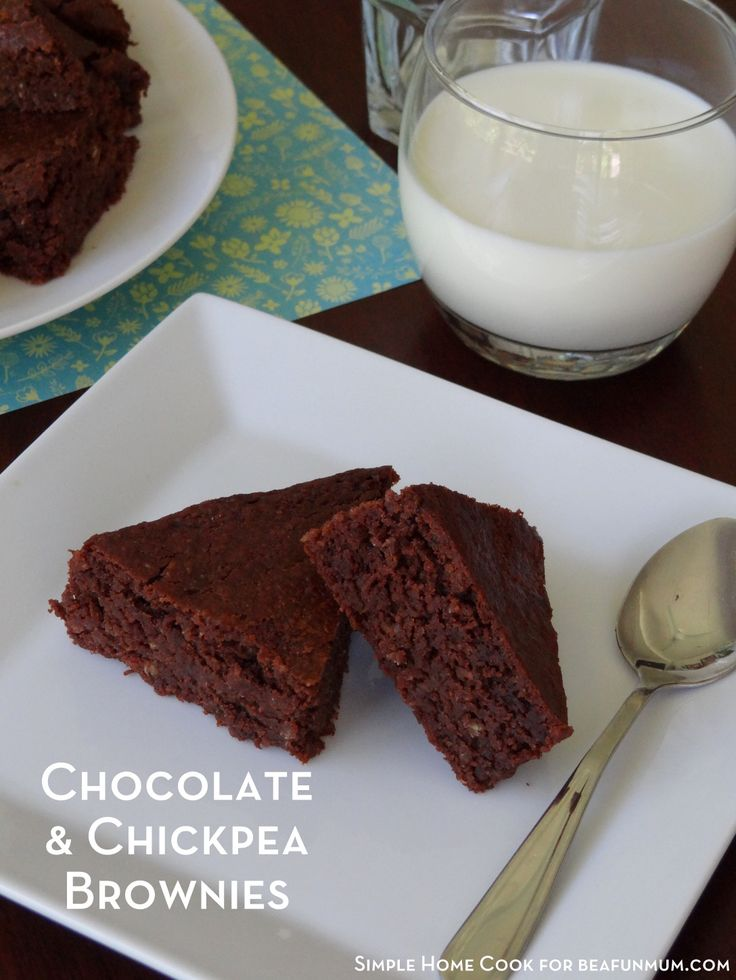 Chocolate & Chickpea Brownies