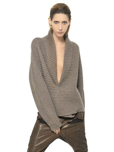 HAIDER ACKERMANN  RIBBED KNIT WOOL SWEATER Fashion Fall Winter 2013-14