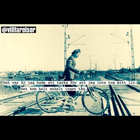 Samma bild två olika texter. #sj #tåg #tågräls #räls #trött #villfarelser #humor #ironi #kul #skoj #fånigt #löjligt #foto #fotografi