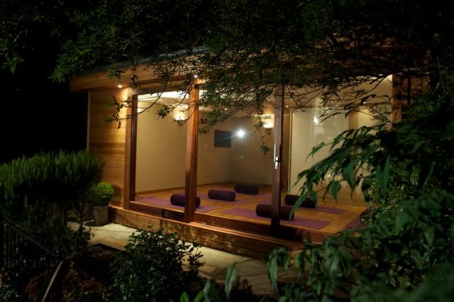 Outdoor Yoga Studio | The Garden Escape | garden room | eco-building With a pond outside and made out of cob it would be perfect!