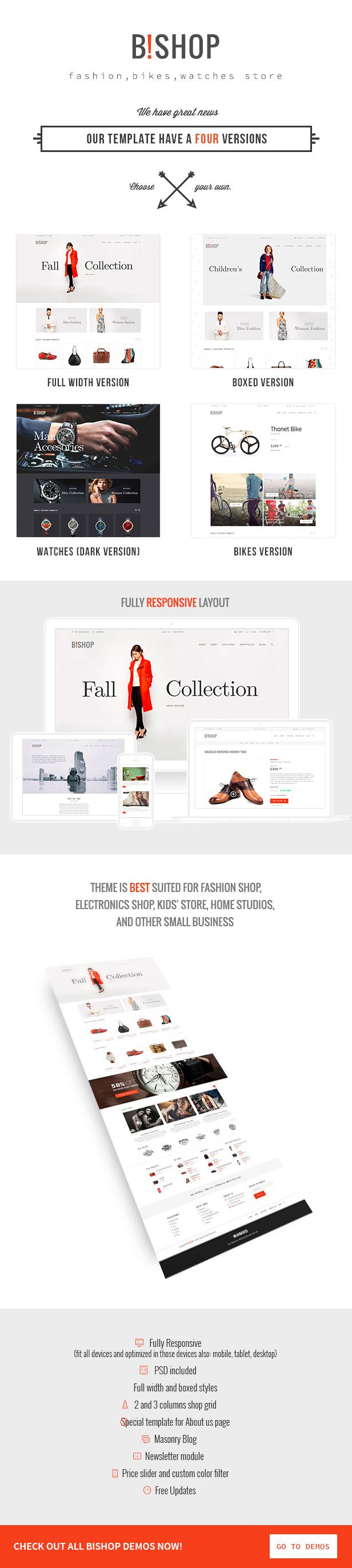 Bishop - Modern Shop Template - Site Templates | ThemeForest