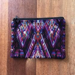 Huipil clutch | Pink & Purple diamonds