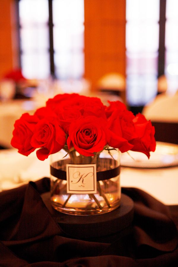 like the monogram on this centerpiece