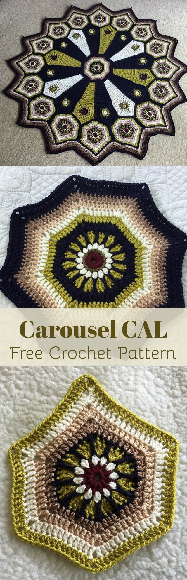 Carousel CAL – Free Crochet Pattern: Created by experienced designer Sue Pinner, the Carousel Blanket is a gorgeous crochet pattern which has been chosen by Stylecraft for their Autumn 2016 CAL #crochet #freepattern #crochetlove
