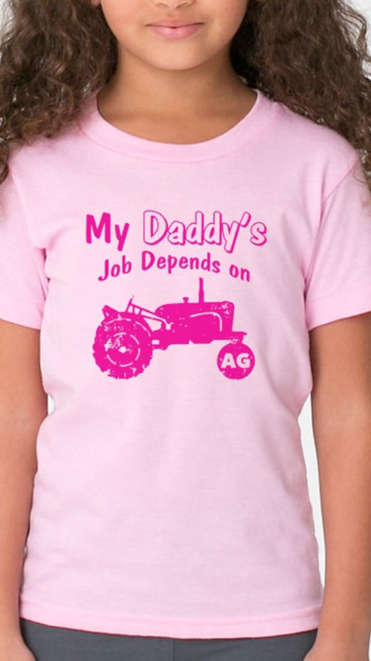 Youth My Daddy's Job Depends On AG Shirt