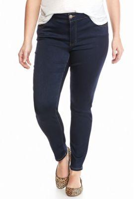 Celebrity Pink Girls' Plus Size Skinny Leg Stretch Jean - Indigo Rinse - 20W