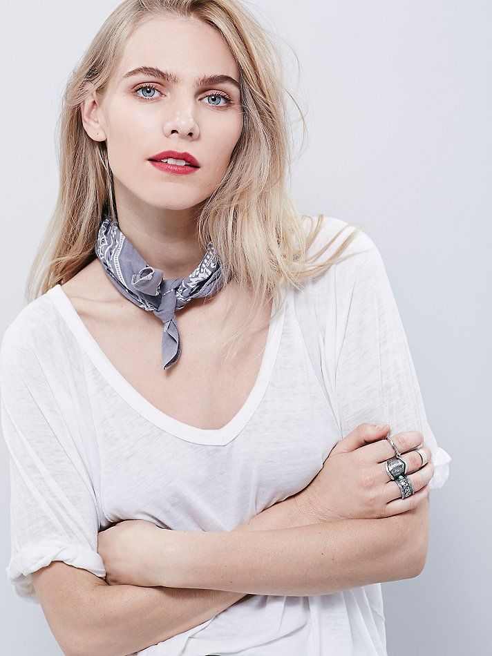 A must-have accessory // Free People FP Vintage Bandanas at Free People Clothing Boutique