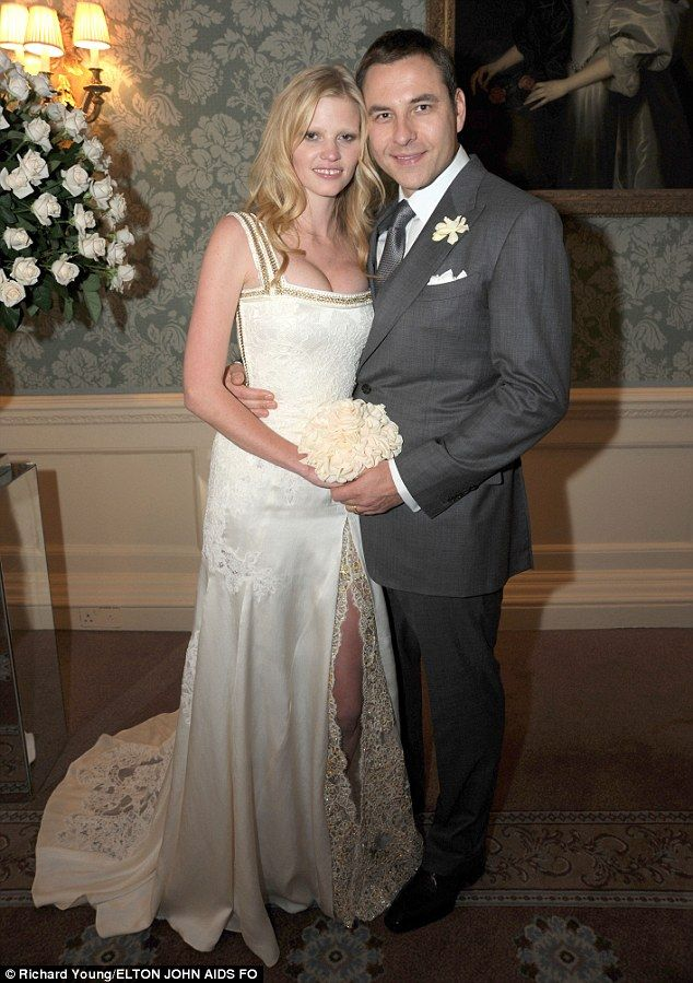 Happier times: David and Lara began dating in September 2009 before marrying at London's e...