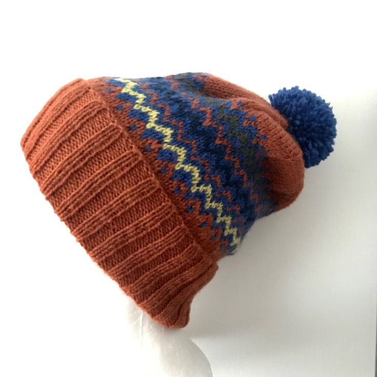 Excited to share the latest addition to my #etsy shop: Fair Isle Knit Beanie, Hand Knitted Hat, Multi Coloured beanie, Unisex, Winter Hat, Ski Hat, Woollen Hat