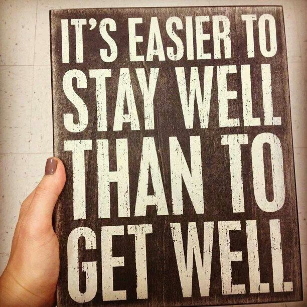 This is our wellness practice: maintain your health on your own and with our help, because your health not only affects you, but everyone around you. Be well. Stay well. #backinmotion.us
