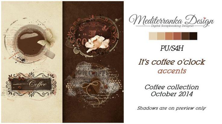 It's coffee o'clock (Accents) by Mediterranka Design