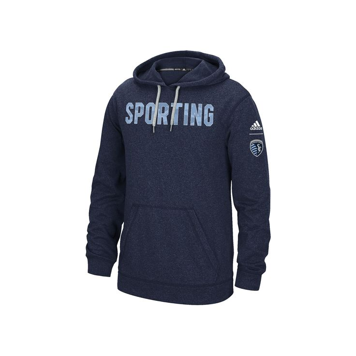 Men's Adidas Sporting Kansas City Ultimate Hoodie, Size: Medium, Blue (Navy)