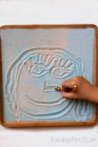Pixi Stix Learning Tray ~ 4 fun ideas for learning with candy. Love the magnet idea!