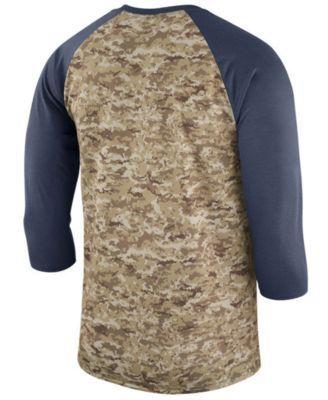 Nike Men's New England Patriots Salute To Service Raglan T-Shirt - Blue XXL