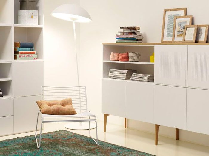 """""""Fuuga"""" modular wall system with variety of legs by Lundia.  Lundia Finland has gone all cool."""