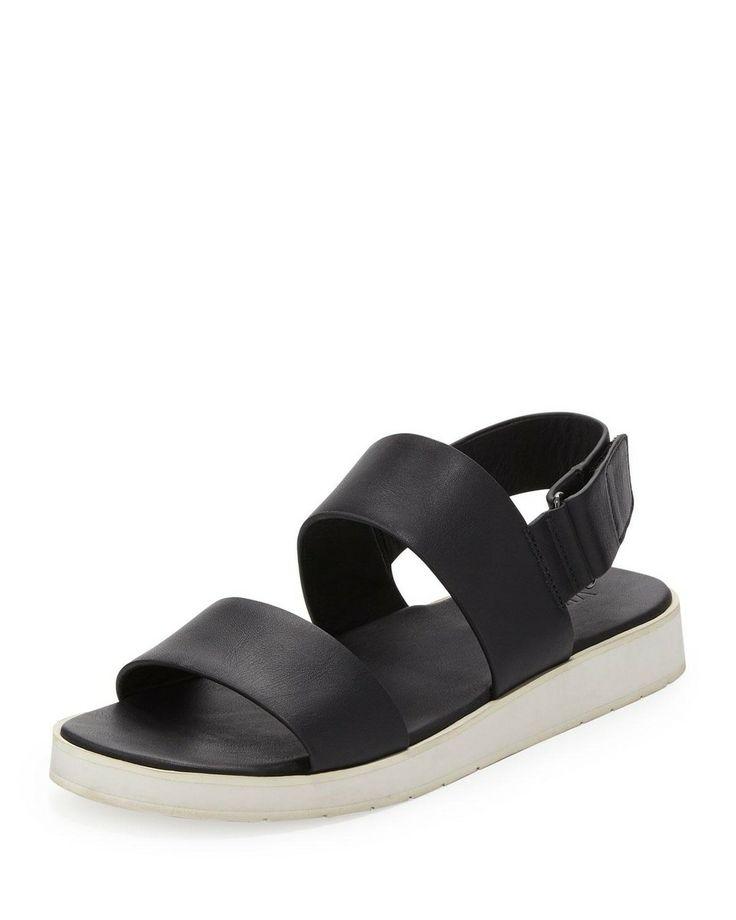 Double-Strap Leather Sandal //