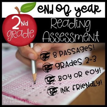 """This file is a ready to print, no prep reading assessment for 2nd-3rd grade! Each year we give our 2nd graders a """"state testing"""" experience, so this assessment is set up in the same format. Check out the preview for a look at the setup! There are 8 reading selections: Troll Dolls-nonfiction Dalmatians-nonfiction Along Came Polly-realistic fiction Nonsense Verses-poetry Bed Bugs-magazine article CCS SUmmer"""