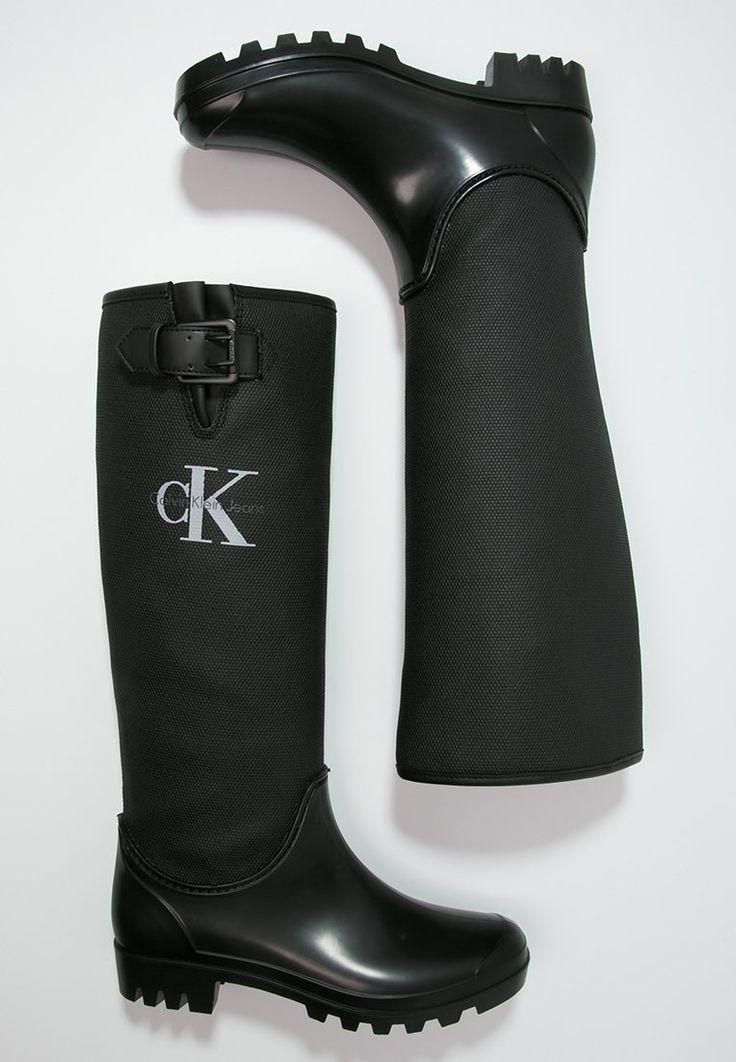 Calvin Klein Jeans PORTIA - Gummistiefel - black - Zalando.de
