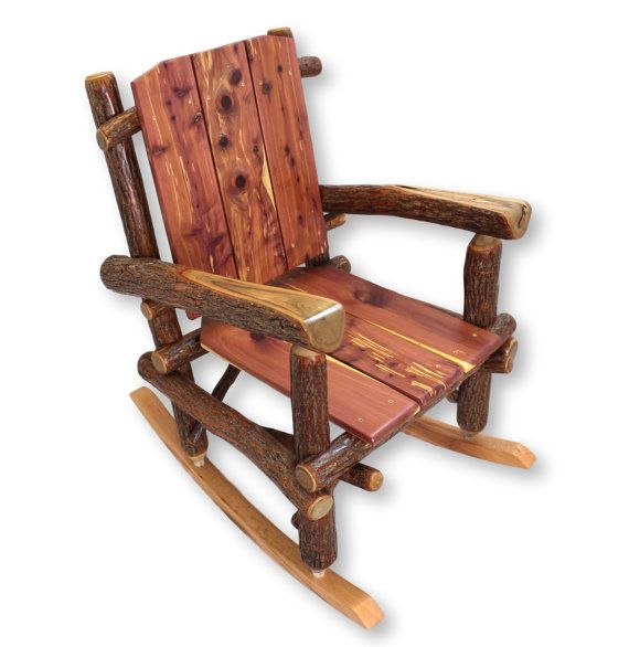 Rustic rocking chairs on Pinterest  Rustic outdoor rocking chairs ...