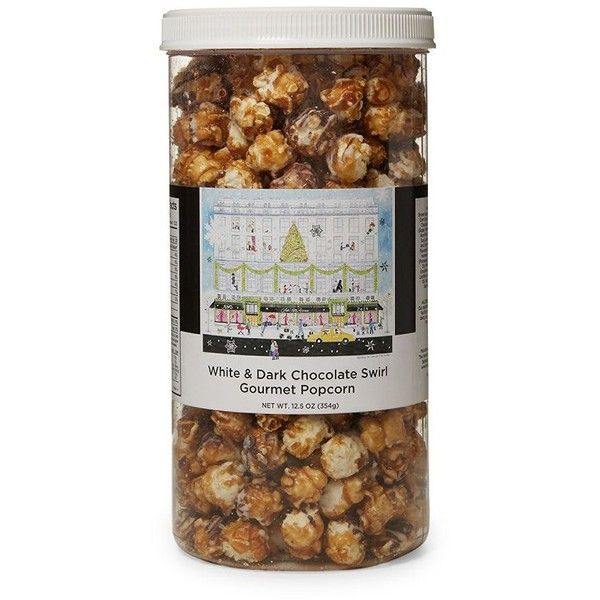 The Hampton Popcorn Company White & Dark Chocolate Swirl Gourmet... (202.050 IDR) ❤ liked on Polyvore featuring home, kitchen & dining, serveware, syrup container, sugar container, oil container, popcorn container and maple syrup container