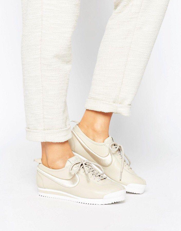 Nike Cortez 72 Premium Sneakers In Beige
