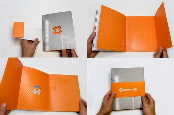 Cut out on brochure
