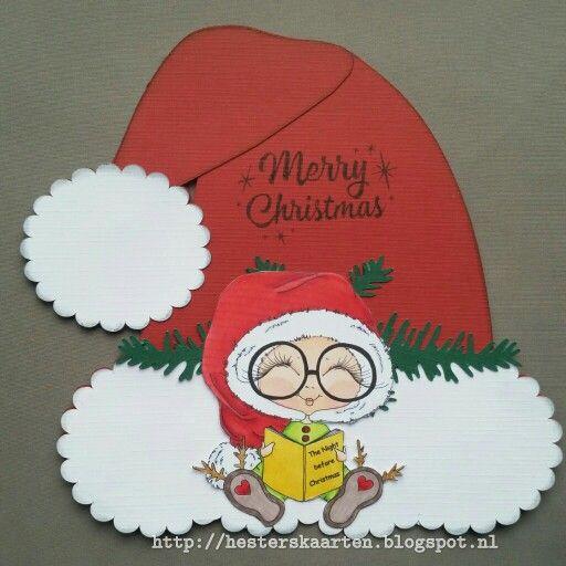 Kerstmuts kaart my Besties eigen template