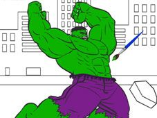 Play Hulk Cartoon Coloring game online. Printable Hulk coloring pages online for free. Hulk has always been a big green monster, since the beginning of the creation of his comics and then to all the cartoons and movies, including also the superhero games he was part of. This is something that can be changed in Hulk Cartoon Coloring, where you are allowed to paint with the colors you want, not only the hero addicted to smashing things, but also the scenario of an epic fight he was in. You…