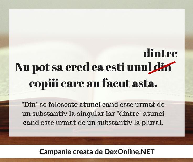 Salvam limba romana impreuna! #salveazalimbaromana #dex #gramatica http://dexonline.net/definitie-dintre