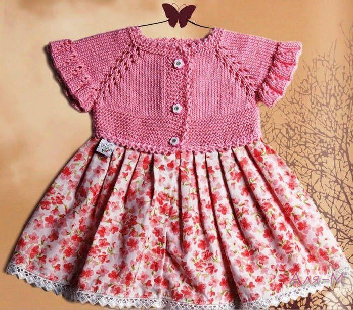 Kız Çocuğu Örgü Elbise Açıklamalı - El Sanatları ve Hobi Sitesi - El Sanatları ve Hobi Sitesi