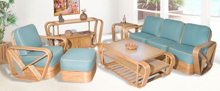1000 images about retro rattan on pinterest bamboo furniture vintage and retro furniture for Bamboo living room furniture