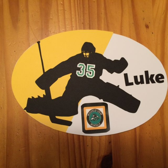 Hotel Door Sign For Goalie For Out Of Town Hockey Tournament I