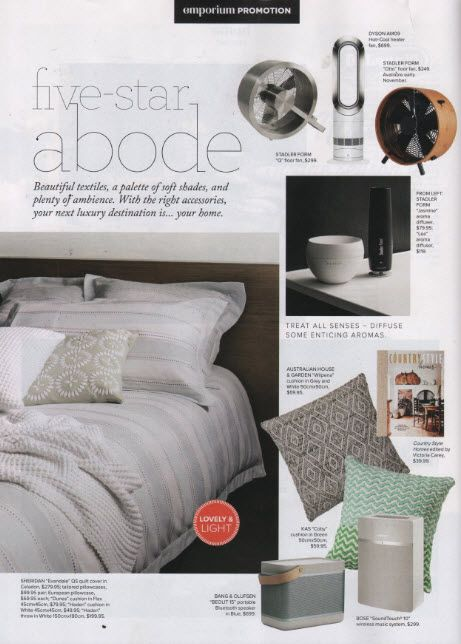 Our KAS 'Koby' cushion featured on the @Myer Emporium magazine #loveKas