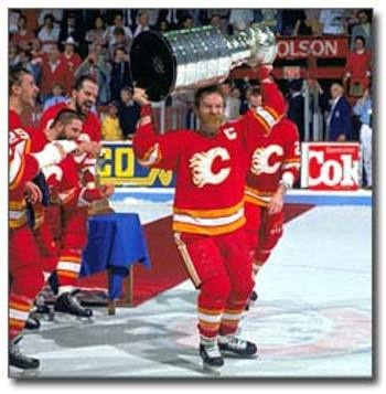 Calgary Flames Win Stanley Cup! Lanny retires - 1989