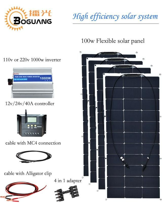 Boguang 400w solar system 100w semi flexible solar panel High efficiency monocrystalline silicon cell 12v battery  powred charge http://greenpowertech.store/products/boguang-400w-solar-system-100w-semi-flexible-solar-panel-high-efficiency-monocrystalline-silicon-cell-12v-battery-powred-charge?utm_campaign=crowdfire&utm_content=crowdfire&utm_medium=social&utm_source=pinterest