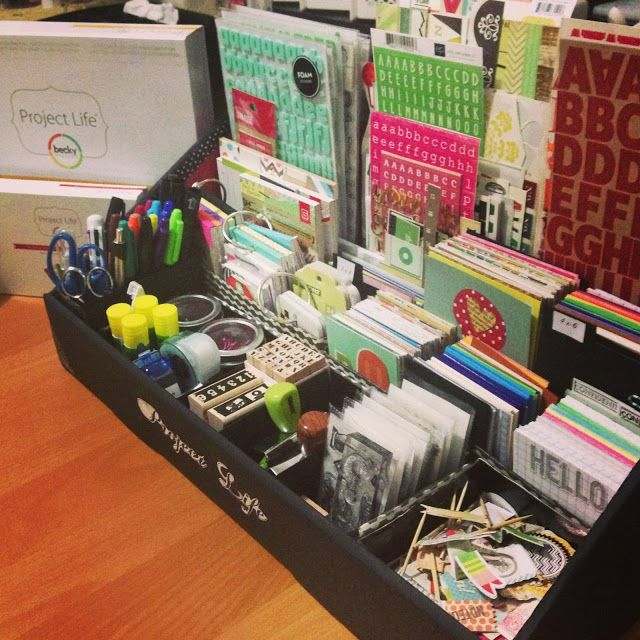 "Craft Room Secrets: Use ""Project life"" Organization stuff to org planner stuff."