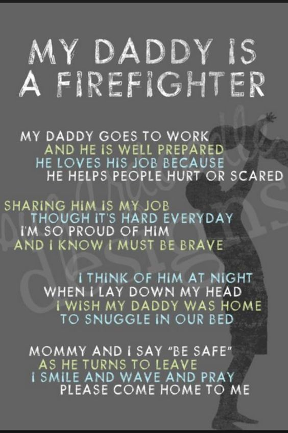 My daddy is a firefighter...  #firefighter #quotes