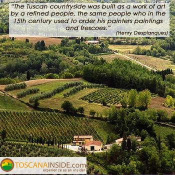 #Art and the Tuscan countryside in the words of Henry #Desplanques