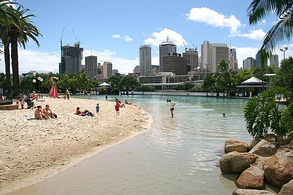 Brisbane. The capital and most populous city in the Australian state of Queensland.