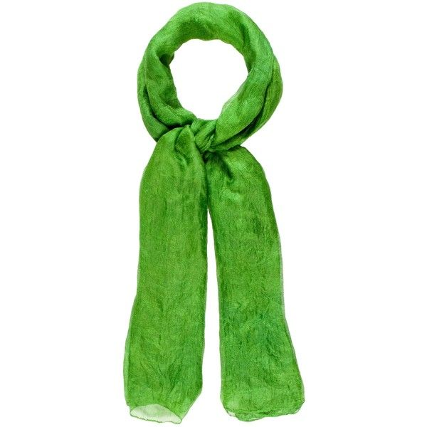 Pre-owned Pamella Roland Green Woven Scarf ($95) ❤ liked on Polyvore featuring accessories, scarves, green, green scarves, pamella roland, woven shawl, braided scarves and woven scarves