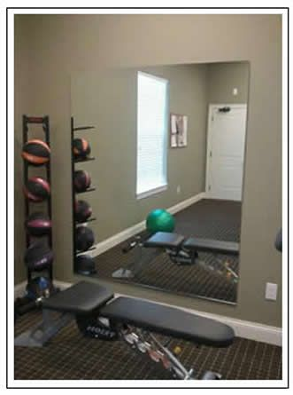 DIY home gym: Mirror, weights, go! Home Gyms - amzn.to/2hoGXRy Sports & Outdoors - Sports & Fitness - home gym - http://amzn.to/2jsMKm8